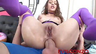 slim brunette rebel lynn riding on a long hard cock