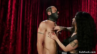 male in gimp mask throat and anal banged