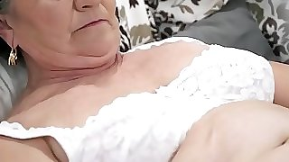 Old hairy puss filled with young cock